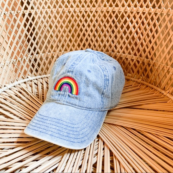 Faded Denim Rainbow Baseball Cap